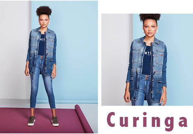 Calça jeans skinny com barra desfiada