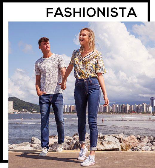 como usar tênis branco com jeans