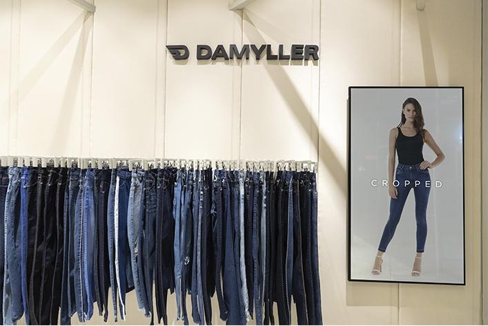 Guia jeans na loja
