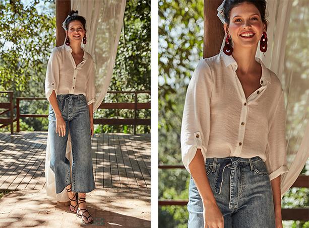 blusas de tecidos leves