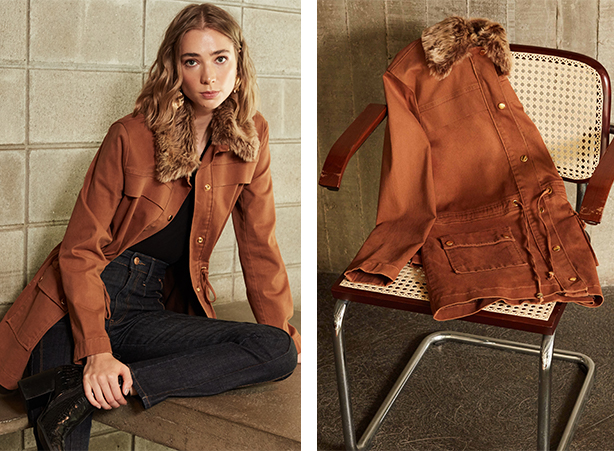 jaqueta feminina parka