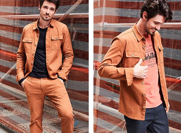 jaqueta masculina camel
