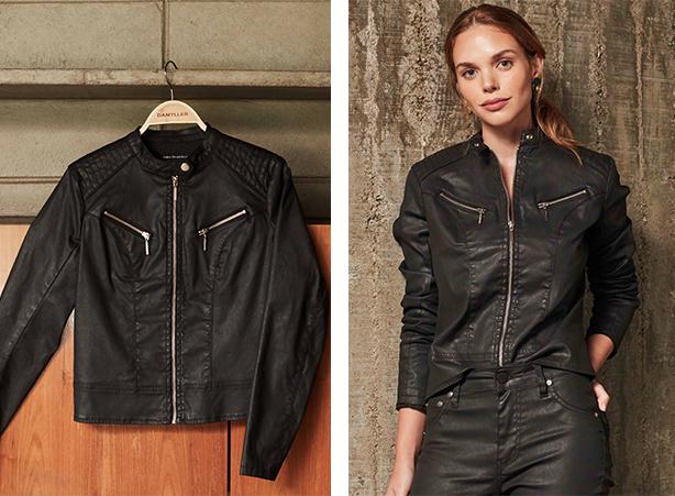 jaqueta resinada rocker