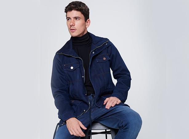 Parka jeans masculina